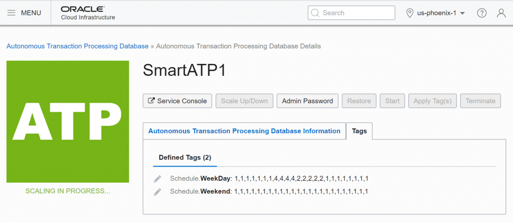 Automatic (Scheduled) Scaling for ADW and ATP – Oracle Cloud