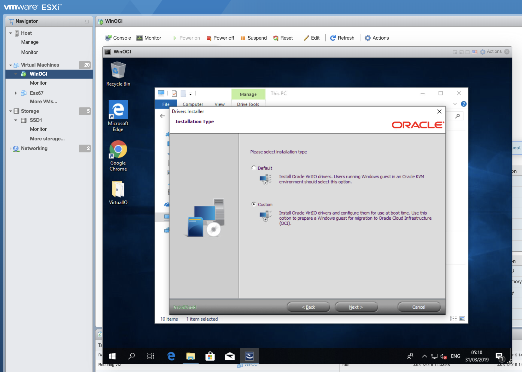 Import VMware Virtual Machines with high performance para